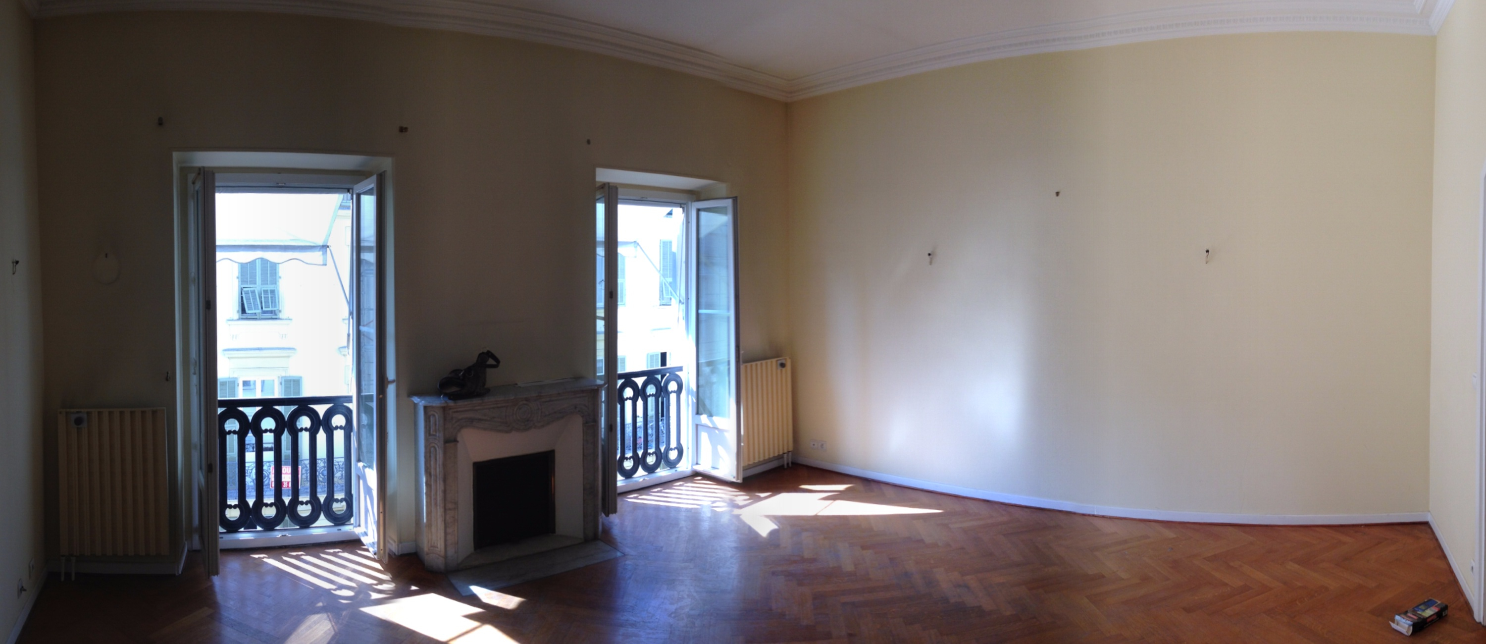 "The ""before"" picture of the living room"