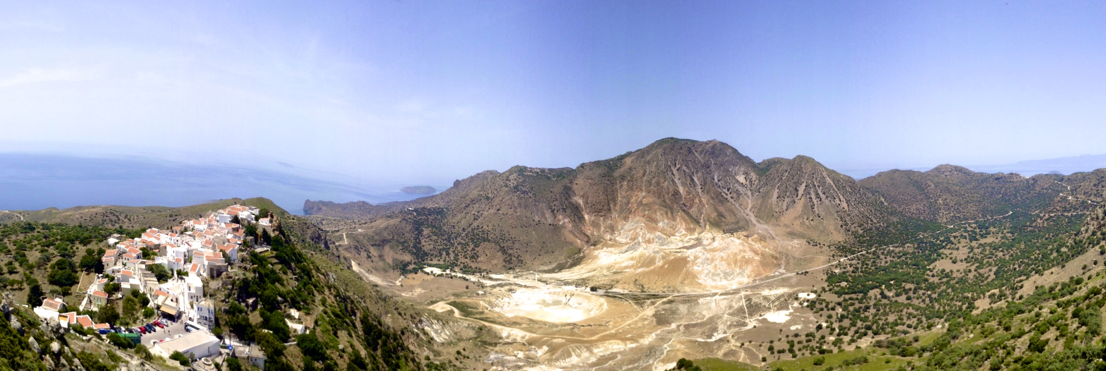 Village of Nikia, volcano crater